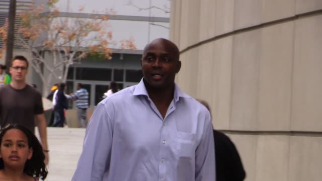 horace grant arrives for the lakers vs oklahoma city thunder game at staples center in los angeles in celebrity sightings in los angeles - oklahoma city thunder basketball team stock videos and b-roll footage