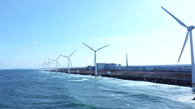 Horizon and many windmills