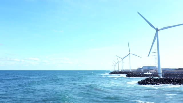 horizon and many windmills - mill stock videos & royalty-free footage