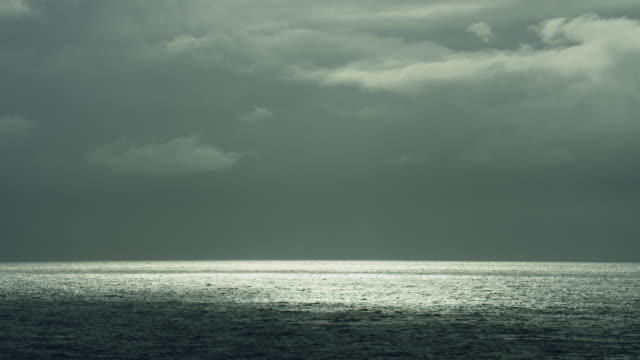 Horizon Over Sea On Overcast Day