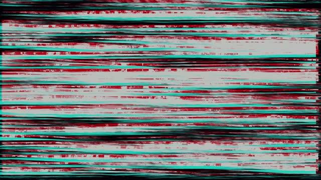 vídeos y material grabado en eventos de stock de horizontal 4k loopable estéreo vhs glitches en un fondo negro - pájaro carpintero escapulario