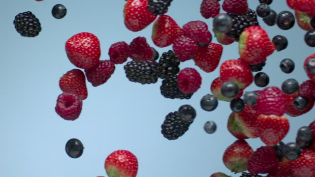 horizontal curtain - red fruit - berry fruit stock videos & royalty-free footage