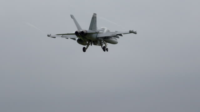 f/a 18 hornet field carrier landing practice-naval air facility atsugi - military aeroplane stock videos & royalty-free footage