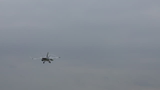 f/a 18 hornet field carrier landing practice-naval air facility atsugi - military airplane stock videos & royalty-free footage