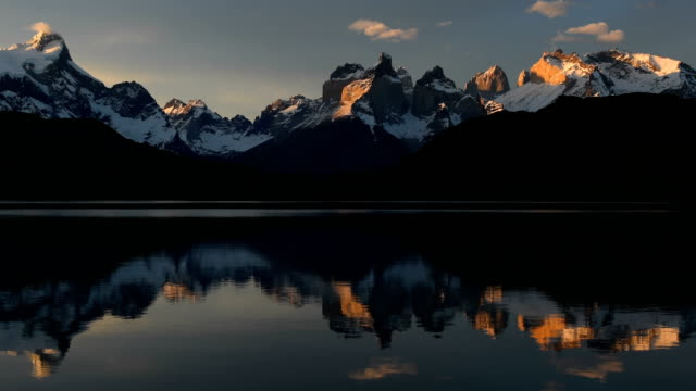 cuernos del paine in torres del paine - patagonia chile stock videos and b-roll footage