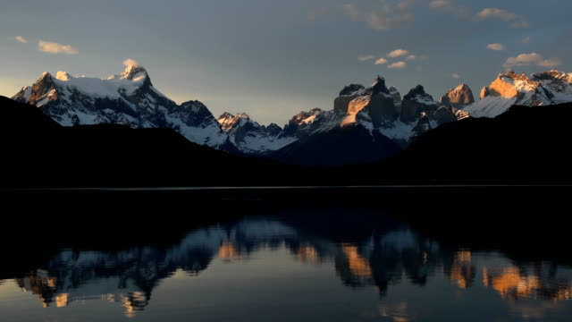 cuernos del paine in torres del paine - chile stock videos & royalty-free footage