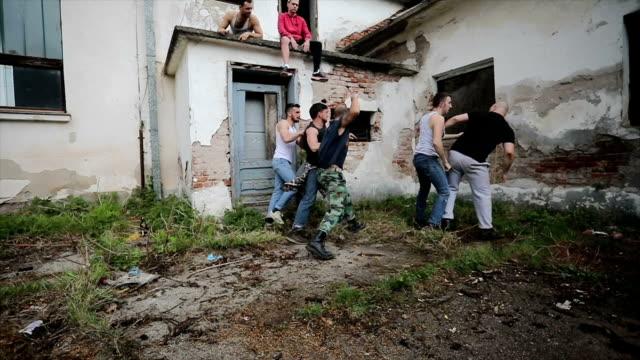 horrible fight between gang members - drug cartel stock videos and b-roll footage