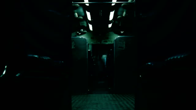 Horror scene inside the train