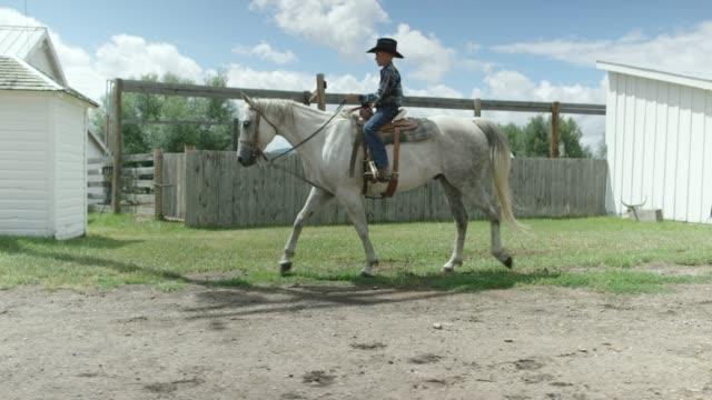 Un caballo y a pie de un niño