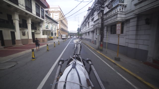 POV horse carriage at Intramuros Manila, colonial city tour