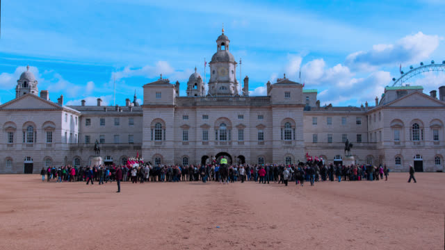 horse guards parade hyper lapse - whitehall london stock videos & royalty-free footage