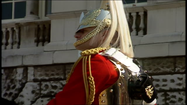 horse guards parade in london - horse guards parade stock videos and b-roll footage