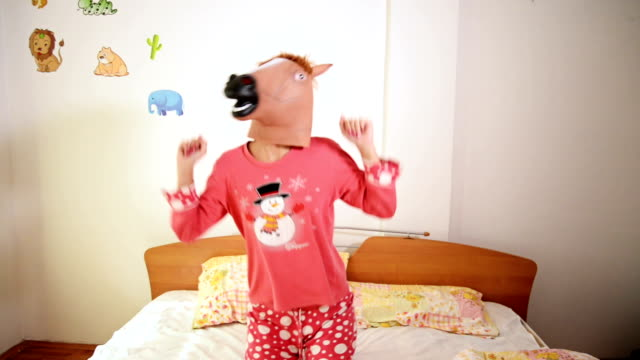 horse head mask - mask disguise stock videos & royalty-free footage