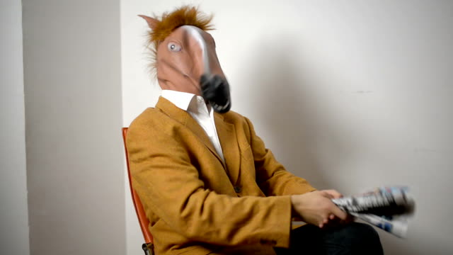 horse head mask - hitting stock videos and b-roll footage