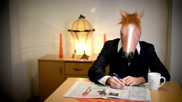 horse head mask. - crossword stock videos and b-roll footage