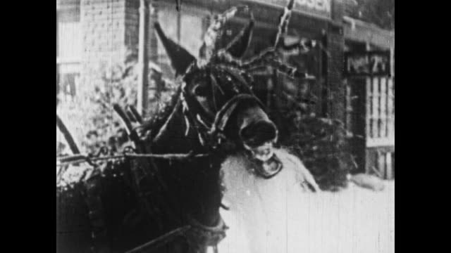 1926 a horse is disguised as a reindeer - 1926 stock videos and b-roll footage