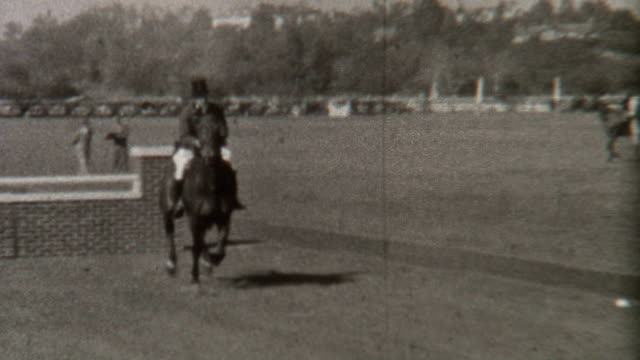horse jumping 1930's - 1900 stock videos & royalty-free footage