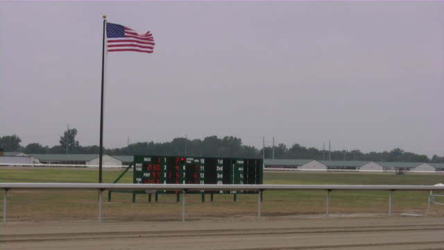 horse racing. horseracing track and equipment. - horseracing track stock videos and b-roll footage