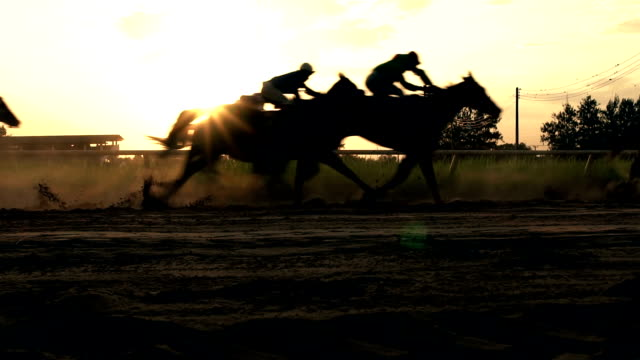 horse racing real time. - rivalry stock videos & royalty-free footage