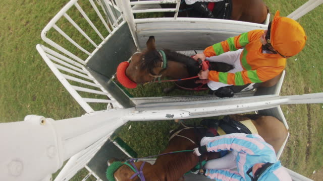 horse racing starting gates - jockey stock videos & royalty-free footage