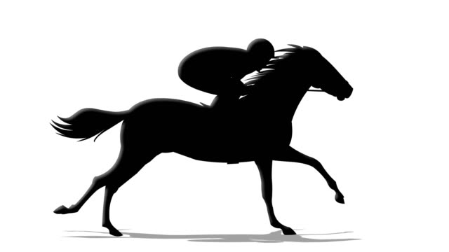 horse rider silhouette - jockey stock videos and b-roll footage