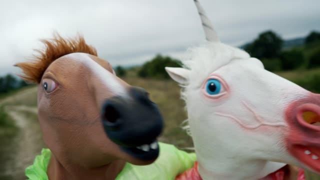 horse selfie - horse stock videos & royalty-free footage