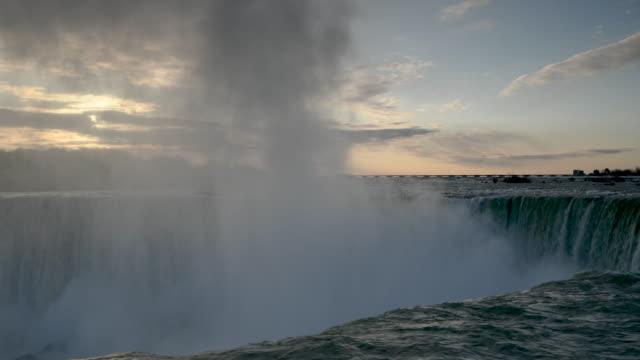 horse shoe falls - niagara falls city new york state stock videos & royalty-free footage