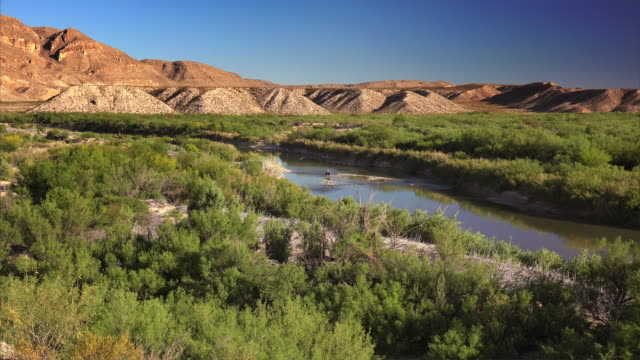 Horseback in Rio Grande River at Big Bend National Park