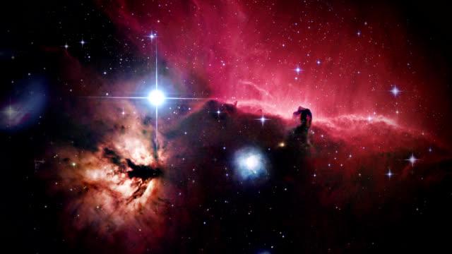 Horsehead nebula, optical image. North is at left.