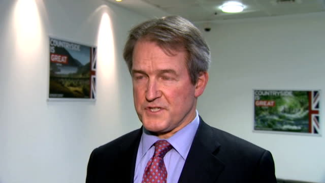 major supermarkets meet owen paterson in effort to rebuild trust london owen paterson mp interview sot i hope it was reassuring to consumers to find... - owen paterson stock videos and b-roll footage