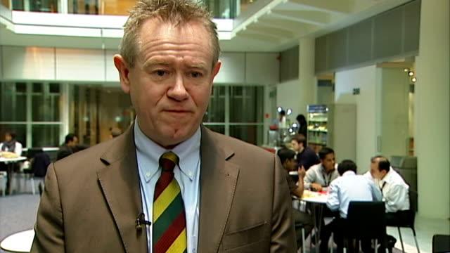 major supermarkets meet owen paterson in effort to rebuild trust david haigh interview sot - オーウェン・パターソン点の映像素材/bロール