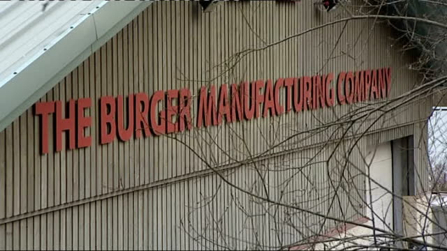 welsh firm withdraws burgers for sale after samples test positive for horsemeat wales the burger manufacturing company sign for meat deliveries 'the... - 馬肉点の映像素材/bロール