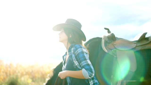 horses are my passion - cowgirl stock videos & royalty-free footage