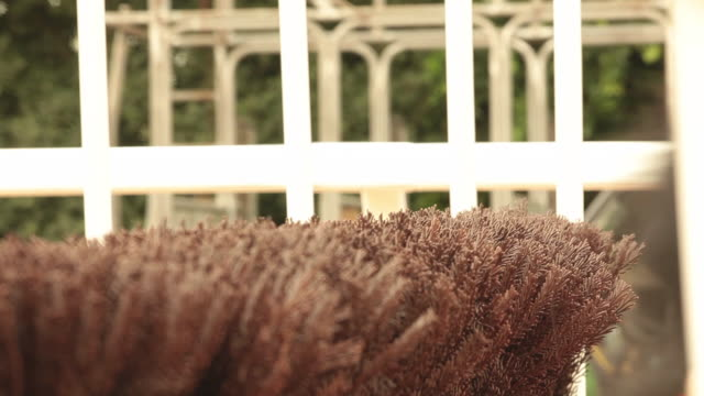 Horses galloping past a fence