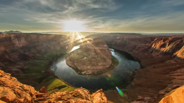 vídeos de stock e filmes b-roll de horseshoe bend, arizona - grand canyon