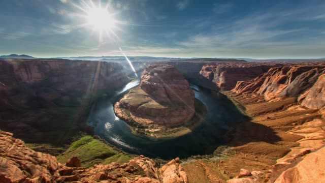 horseshoe bend, arizona - natural parkland stock videos & royalty-free footage