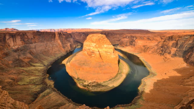 horseshoe bend colorado river - lake powell stock videos and b-roll footage