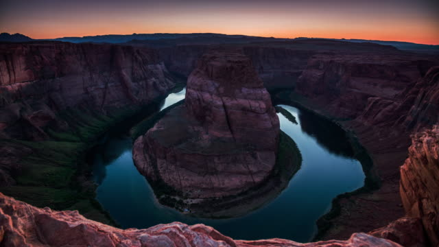 vídeos de stock e filmes b-roll de horseshoe bend, grand canyon, usa - grand canyon