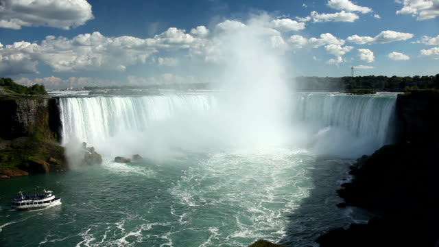 horseshoe falls at niagara falls - niagara falls stock videos and b-roll footage