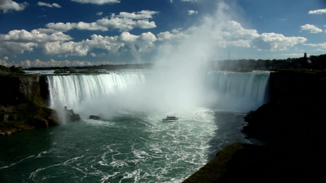 horseshoe falls at niagara falls - niagara falls stock videos & royalty-free footage