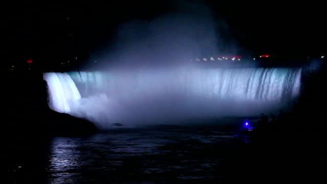 夜の滝 - ナイアガラ滝点の映像素材/bロール