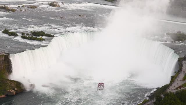horseshoe falls of niagara falls - horseshoe stock videos & royalty-free footage