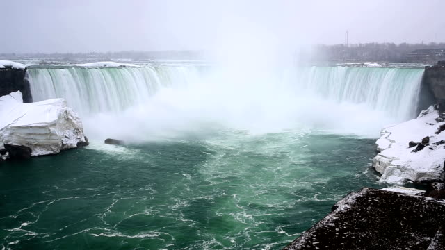 hd: horseshoe niagara falls, ontario, canada - niagara falls stock videos and b-roll footage