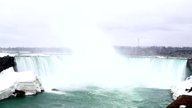 hd: horseshoe niagara falls, ontario, canada - river niagara stock videos and b-roll footage