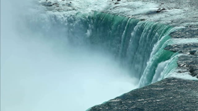 horseshoe waterfalls, niagara falls - niagara falls stock videos and b-roll footage