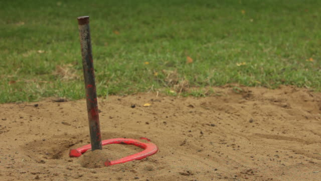 horseshoes hd - horseshoe stock videos and b-roll footage