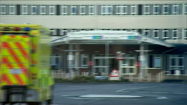 nhs hospital accident and emergency departments failing to meet waiting time targets wales pembrokeshire haverfordwest ext ambulance with siren... - pembrokeshire stock videos and b-roll footage