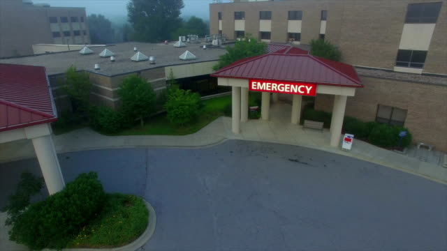 hospital aerial - building exterior stock videos & royalty-free footage