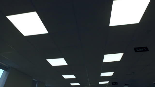 hospital corridor lights - part of a series stock videos & royalty-free footage