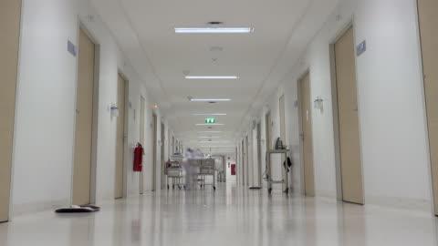 vídeos y material grabado en eventos de stock de pasillo del hospital. - pasillo característica de edificio